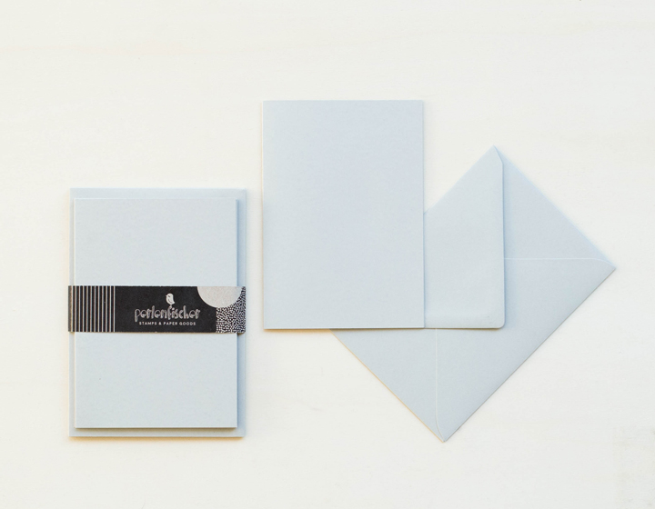 5 cards wit envelope | Grau