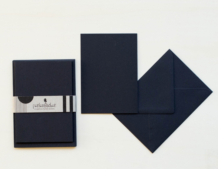 5 cards wit envelope | Schwarz