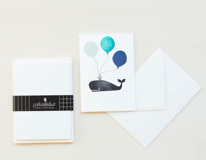 5 cards wit envelope | Weiß